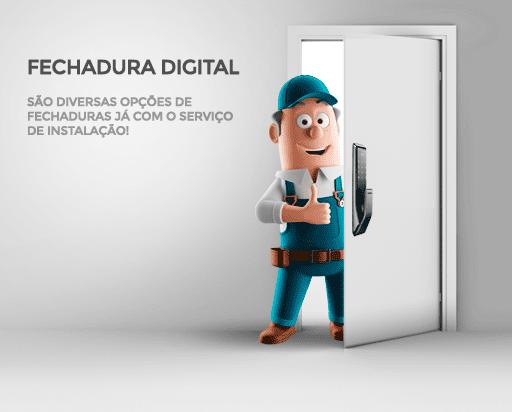 Instalação e venda de Fechadura Digital